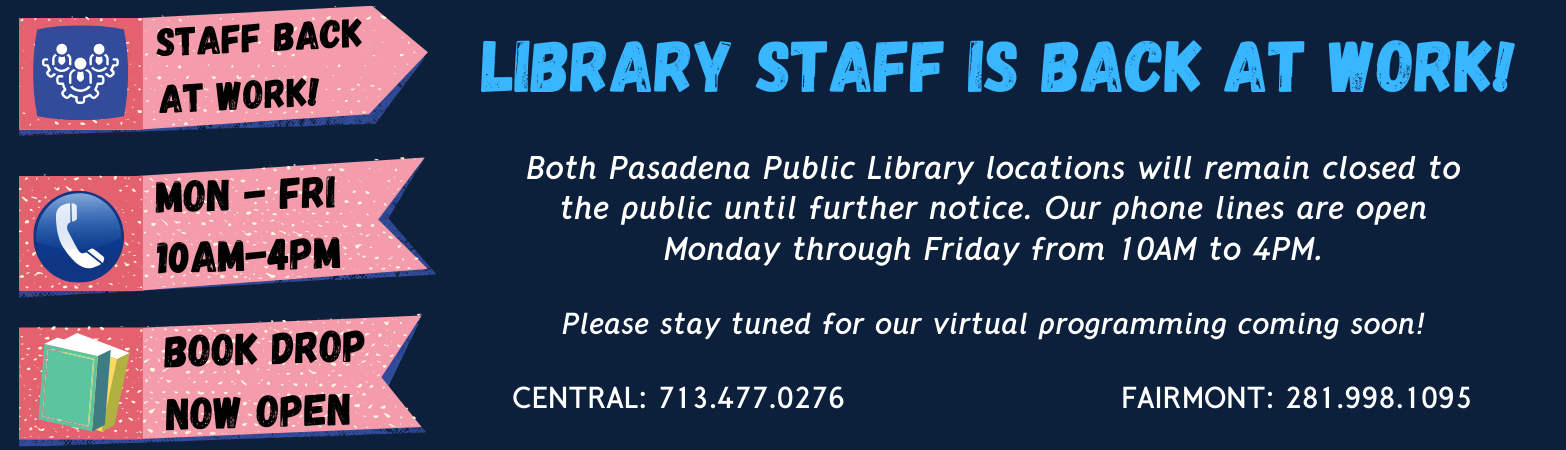 Library staff is back at work!